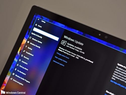 Updated Windows 10 Settings app surfaces with sleek header