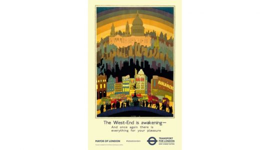 90 year old tube poster reappearing on the London Underground