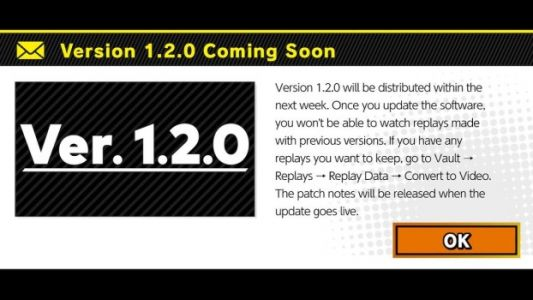 Version 1.2.0 update coming to Super Smash Bros. Ultimate next week