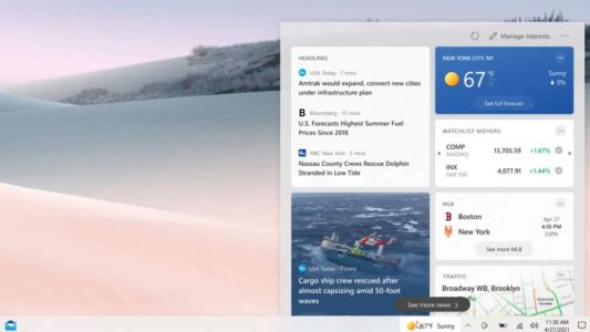 Microsoft to bring News and Interests feature to Windows 10 users running 1909 and above