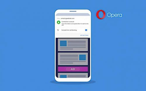 Opera for Android can now block ads per site in two taps