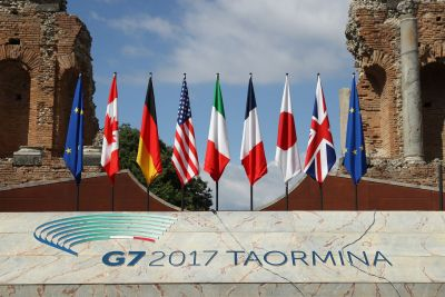 The G7 summit ends without US commitment on Paris agreement