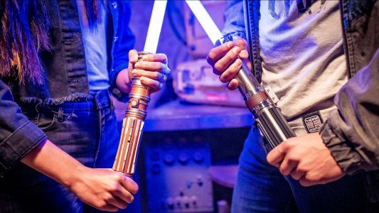 """Disney officially unveils """"real"""" Star Wars lightsaber"""