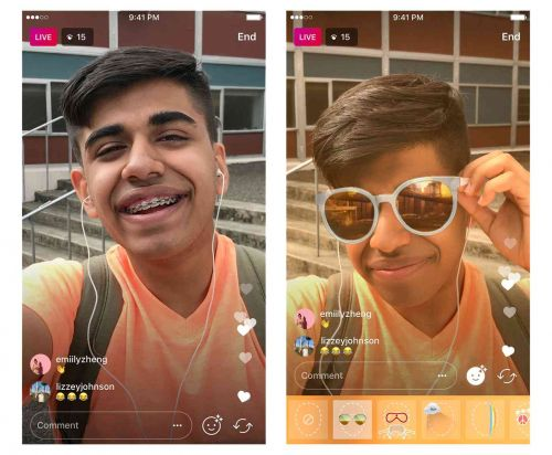 Instagram now rolling out face filters in live video