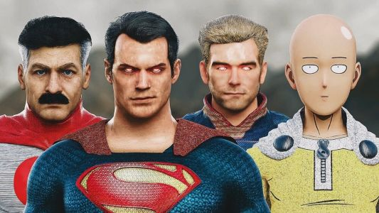 Superman, One Punch Man, Homelander, and Omni Man Fight in Fan-Mae CG Animated Video