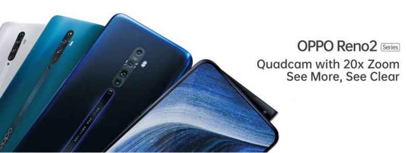 OPPO Reno 2 with Quad cameras and 20x zoom coming on August 28