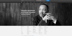 Apple honours Martin Luther King Jr. on U.S. website