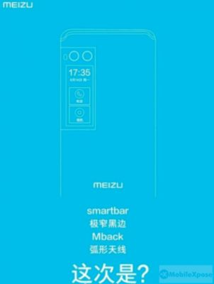 Meizu PRO 7 Poster Leaks, Secondary Panel Called 'smartbar'