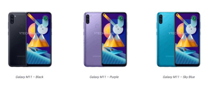 Galaxy M11 press renders break cover, specs leak online