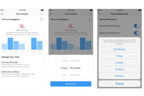 Instagram starts rolling out dashboard that shows how much time you spend on it