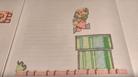 Cool Stop Motion Paper Animation of the Classic SUPER MARIO BROS. First Level