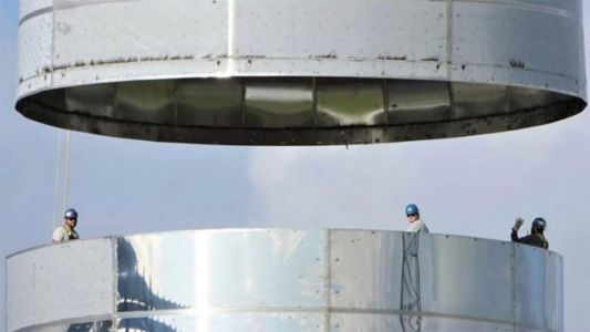 Elon Musk Gives Sneak Peek at SpaceX Starship Prototype's Construction