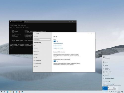Four ways to connect to a Wi-Fi network on Windows 10