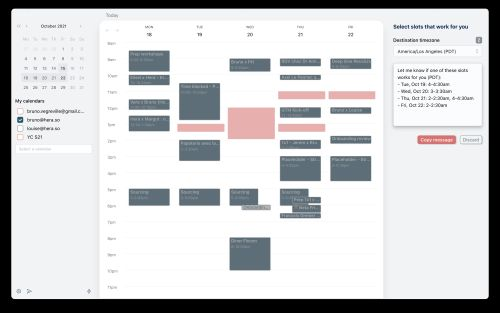 Hera is a new calendar app for people with a lot of virtual meetings