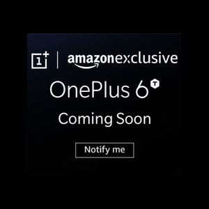 OnePlus 6T already tagged in promo banner as Amazon Exclusive