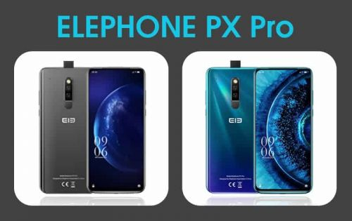 Take a glimpse at the full design of ELEPHONE PX Pro