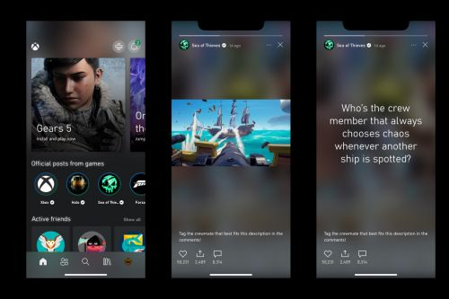 Even the Xbox app has stories now