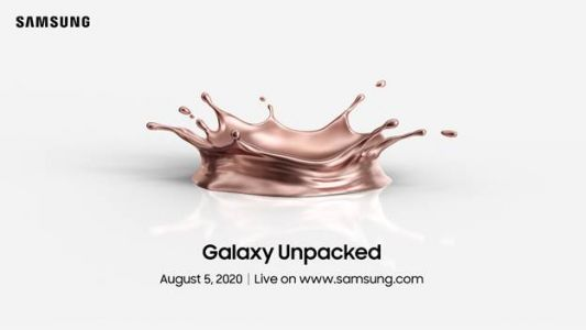 Samsung's Galaxy Note 20 event will take place on August 5