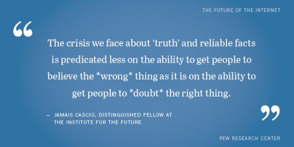 Shareable quotes from experts on the future of truth and misinformation online