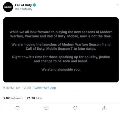 Call of Duty: Modern Warfare, Warzone, and Mobile Seasons Delayed