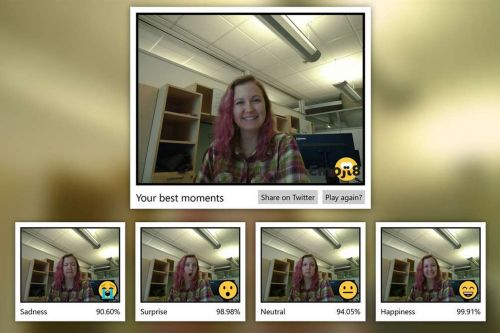 Microsoft made an app to rate your facial expressions against emojis