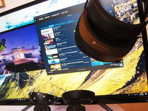You can use SteamVR with Windows Mixed Reality. Here's how