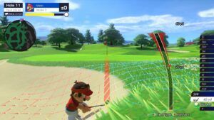 I played Mario Golf: Super Rush against Canadian pro golfer Mike Weir