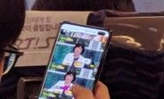 Samsung Galaxy S10+ live photo reveals the dual selfie cam