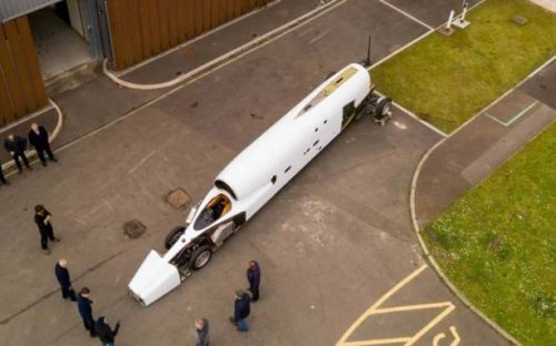 Bloodhound land speed record vehicle gets new HQ and paint job