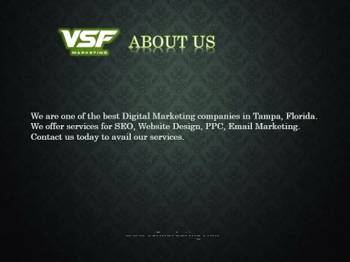 Tampa Based SEO Company - VSF Marketing