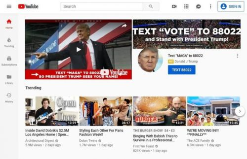 Trump's Election Day YouTube takeover feels very different in 2020