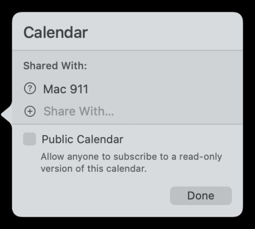 How to make and manage a shared iCloud calendar