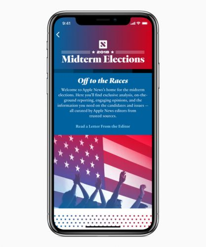 Get your trusted midterm elections news from us, says Apple